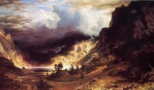 Albert Bierstadt - A Storm In The Rocky Mountains  Mr  Rosalie