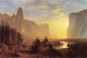 Albert Bierstadt - Yosemite Valley  Yellowstone Park
