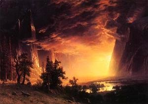 Albert Bierstadt - Sunset In The Yosemite Valley