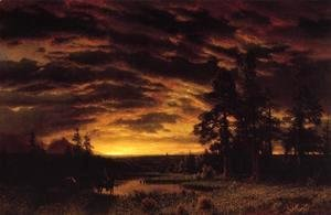 Albert Bierstadt - Evening On The Prarie