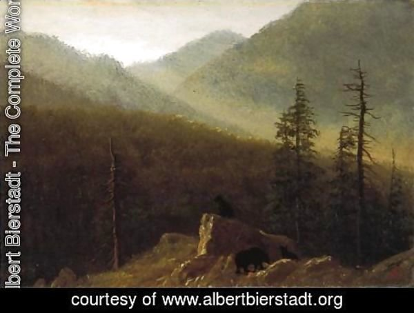 Albert Bierstadt - Bears In The Wilderness