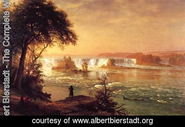 Albert Bierstadt - The Falls Of St  Anthony