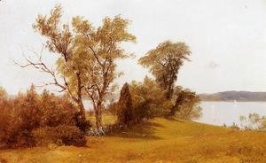Albert Bierstadt - Sailboats On The Hudson At Irvington