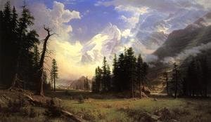 Albert Bierstadt - The Morteratsch Glacier  Upper Engadine Valley  Pontresina