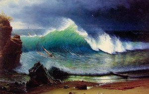 Albert Bierstadt - The Shore Of The Turquoise Sea