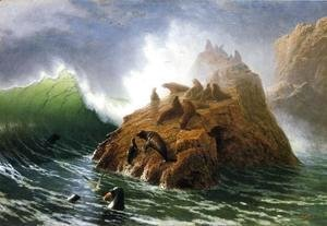 Albert Bierstadt - Seal Rock 1872