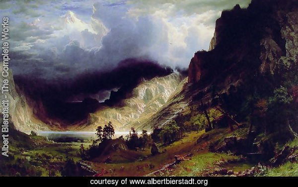 Storm in the Rocky Mountains, Mt. Rosalie, published 1869