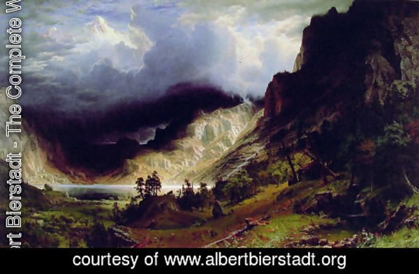 Albert Bierstadt - Storm in the Rocky Mountains, Mt. Rosalie, published 1869