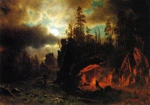 Albert Bierstadt - The Trappers' Camp 1861